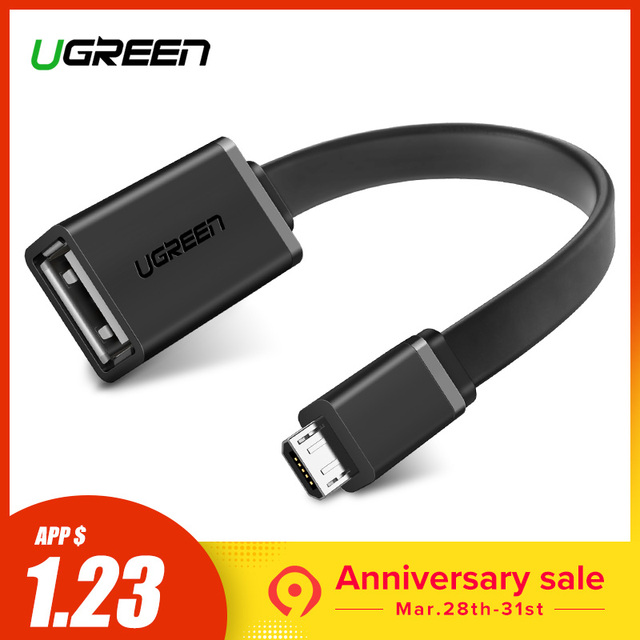 Ugreen Micro USB OTG Кабель-адаптер для Xiaomi Redmi Note 5 Micro USB разъем для samsung S6 планшет Android USB 2,0 OTG адаптер