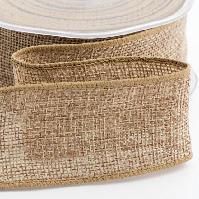 christmas decor burlap ribbon natural 38mm hessian jute ribbon 5 metres aa7888