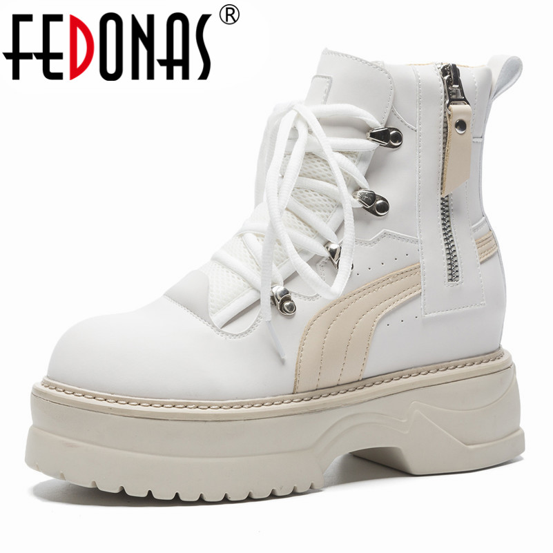 FEDONAS Punk Fashion Women Ankle Boots Platforms Warm Short Martin Shoes Woman Round Toe Casual Shoes New Brand Ladies Boots цены онлайн