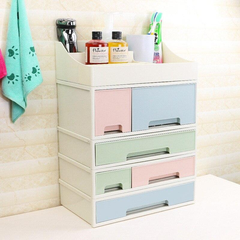 Multifunction 1PC Combinable DIY Drawer Desk Organizer Creative Desktop Storage Box Cosmetic Storage Stationery Jewelry Case