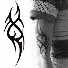Стильные 3D Новые мужские половинные рукава Руки Временные тотемные татуировки наклейки боди-арт татуировки для мальчиков инструменты для красоты