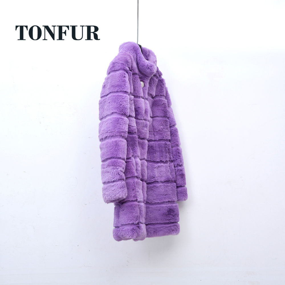 2019 Sheared Genuine Rabbit Fur Outwear Handmade Customize Factory Direct hot selling Real Rabbit Fur Coat WSR252