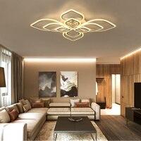 Lâmpadas de teto brancas modernas para sala de jantar casa deco montagem em superfície led painel de luz ac90v acrílico 260 v luzes de teto|acrylic ceiling light|living room ceiling lampceiling lamp -