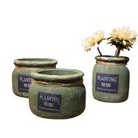 New Year Decor Garden Vase Tabletop Flower Plant Seed Pot Vase For Decoration Cement Flower Pot Water Plant Vase For Decoration