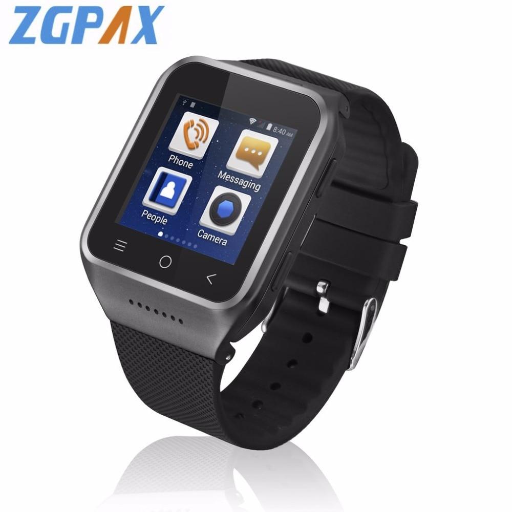 ZGPAX S8 Bluetooth Smart Watch Android 4.4 MTK6572 Dual Core GPS 3.0MP Camera WCDMA WiFi MP3 MP4 Smartwatch Phone