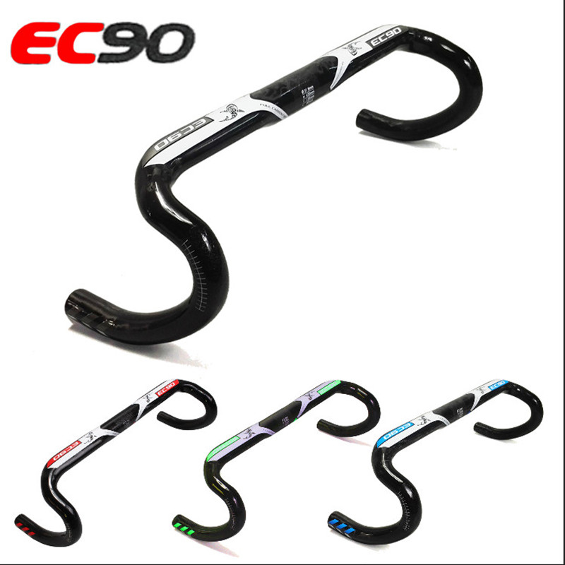 2017 New ec90 Carbon Fiber Bicycle Handlebar Of The Road EC90 Aero Carbon road bike handlebar External cable 31.8*400 420 440MM ec90 carbon fiber rest handlebar tt handlebar ultralight road bike bicycle aero handle bar 400 420 440mm