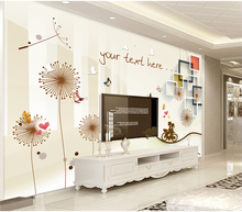 Custom Any Size 3D Mural Wallpaper 3d Box Dandelion Beautiful Home Decor Living Room Wall Covering beautiful cotton and lien luxury bedding room curtains living room curtain high quality home decor