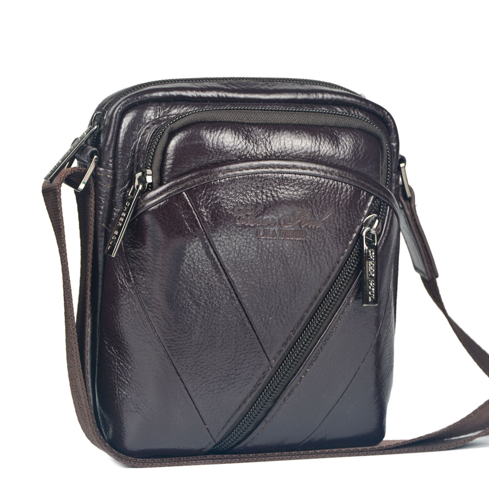 2015 new genuine leather small messenger bags for men shoulder ...