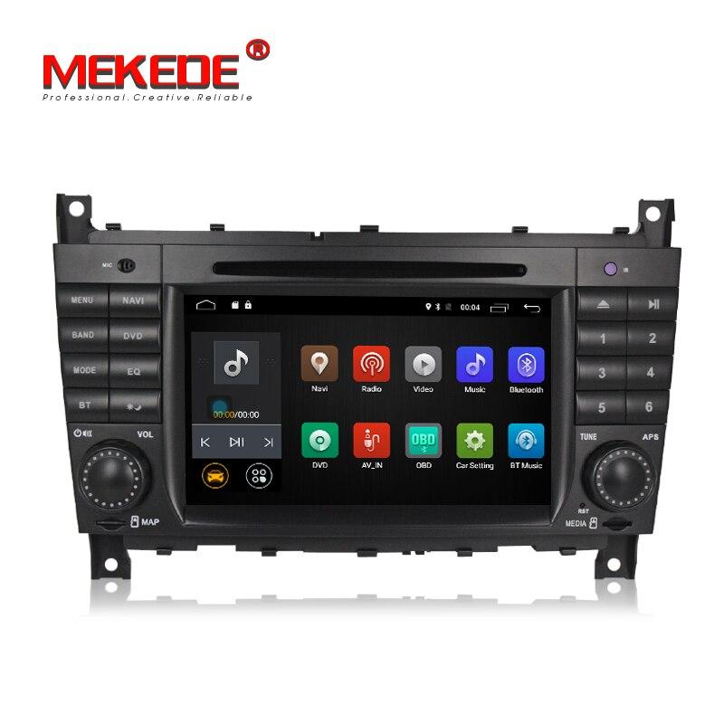 Бесплатная доставка! Чистый Android7.1 салона автомобиля навигации gps DVD плеер для Mercedes/Benz W203 W209 C Class C180 C200 CLK200