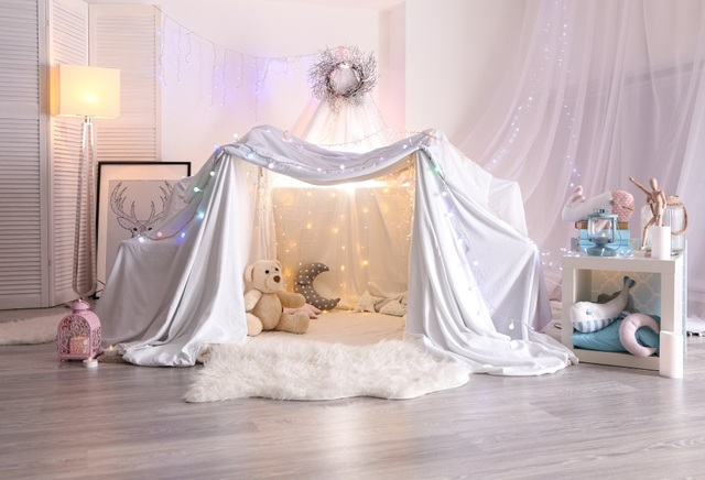 Laeacco Baby Room Curtain Tent Lamp Carpet Plush Toy Photography Backgrounds Customized Photographic Backdrops For Photo Studio