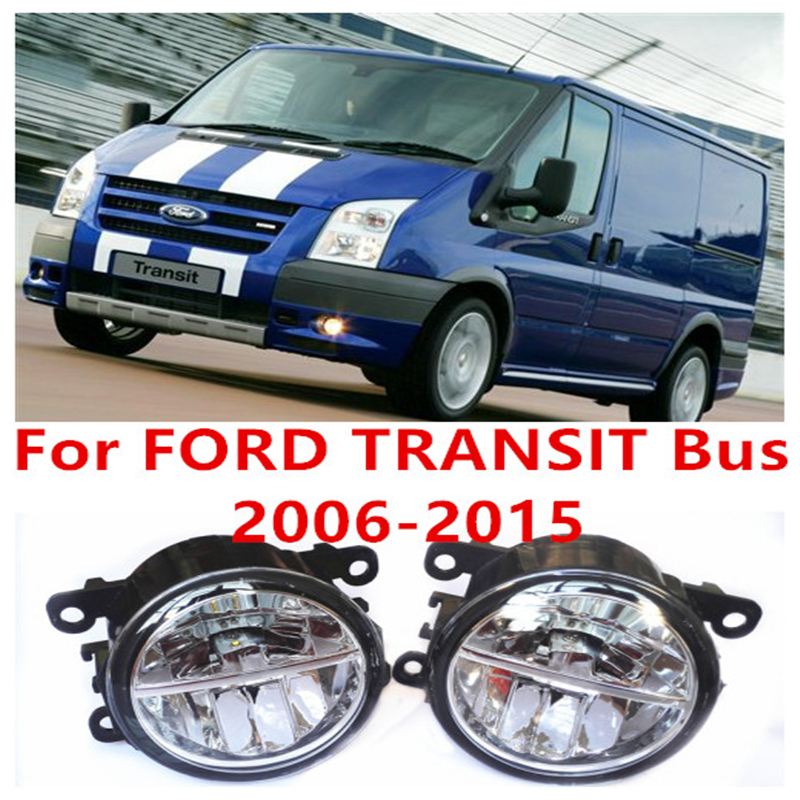 For FORD TRANSIT Bus 2006-2015  10W Fog Light LED DRL Daytime Running Lights Car Styling lamps  car electric window toggle switch front for ford transit mk6 2000 2006