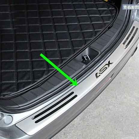 Limiar de Almofada de proteção No Tronco Traseiro Guarnição Tampa traseira estilo do carro do peitoril da porta Para Mitsubishi ASX 2014