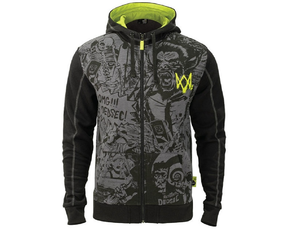 Game Watch Dogs 2 DedSec 100% Cotton Sweatshirts Men's Hoodies Long Sleeve Jackets Cosplay Costume Halloween Christmas Gift