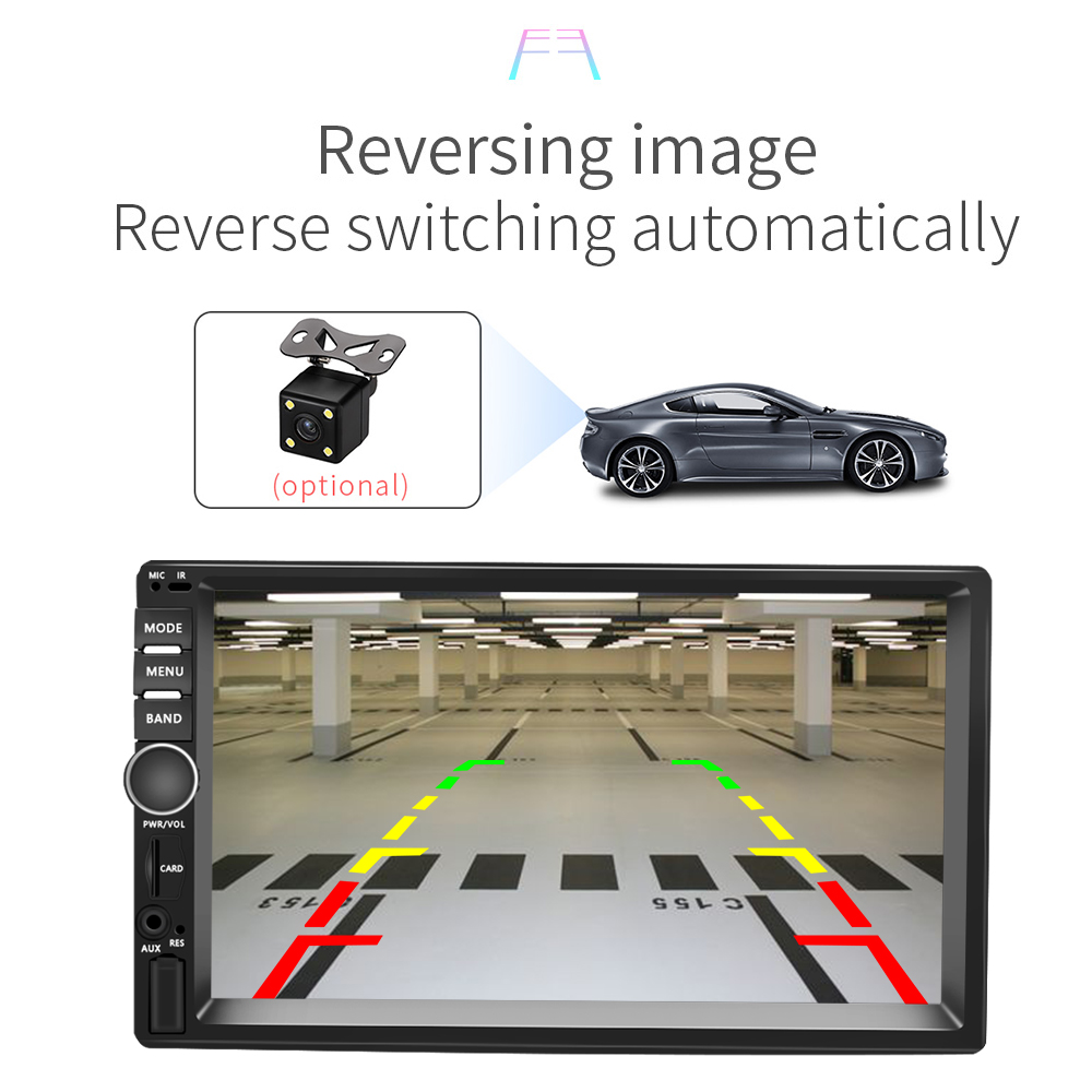 """Image 5 - AMPrime Car Radio 2din Android Audio Multimedia Player GPS Navigation 7"""" Universal Car Stereo Wifi Bluetooth FM Mirrorlink Auto-in Car Multimedia Player from Automobiles & Motorcycles"""