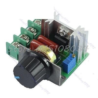 AC 220V 2000W SCR電圧レギュレータ調光調光器スピードコントローラーサーモスタットS08 Wholesale&DropShip