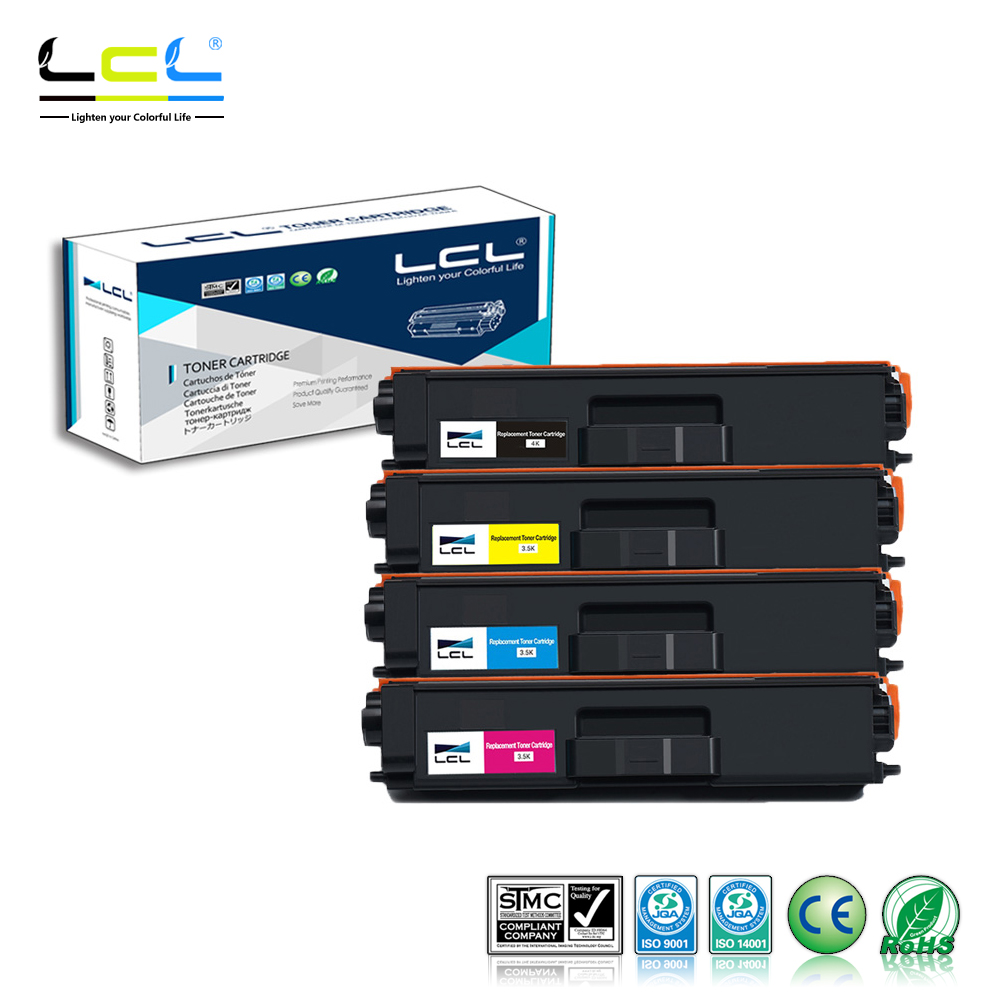 LCL TN315 TN310 TN325 TN320 TN-390 TN-395 (4-Pack KCMY) Toner Cartridge Compatible for Brother HL 4140 4150CDN 4570CDW 4570CDWT toner for brother hl6050dn hl6050dw hl6050d printer for brother tn 4100 4150 hl 6050 toner tn4100 tn4150 tn 4100 tn 4150 toner
