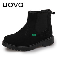 Size 28 37 Slip on Spring Autumn Boots Waterproof Rain Shoes Kids Outdoor Shoes Botas Black Red Ankle Boots For Boys Girls