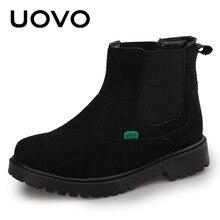 Размеры 28-37 Slip-On Демисезонный Сапоги и ботинки для девочек водонепроницаемая обувь детская верхняя Обувь Botas Ботильоны черного и красного цвета для Обувь для мальчиков Обувь для девочек
