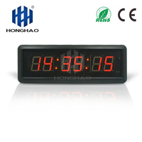 Honghao LED Countdown Timer Time Clock 110V to 250V AC Plug for Home Gym
