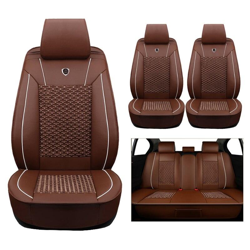 Haute qualité (en cuir + soie) Siège de voiture Couvre Pour AUDI A1 A3 A4 B5 B6 B7 B8 A5 A6 C5 C6 Q3 Q5 Q7 TT voitures accessoires de coiffure auto