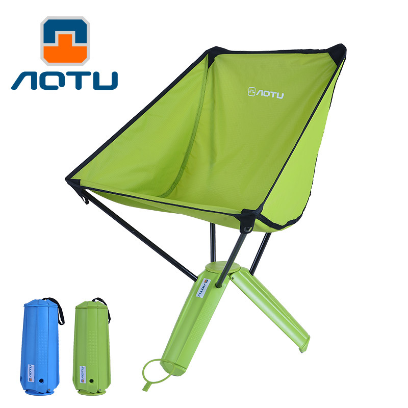 AOTU 2017 Ultralight Portable Folding Camping Chair cup size after folding easy to carry for Hiking Fishing Outdoor Activities camping tool hiking recreation light weight portable folding chair outdoor chair for camping fishing hiking