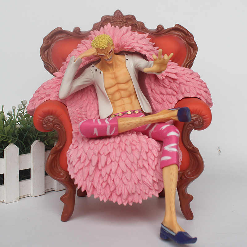 ONE PIECE Donquixote Doflamingo GK estátua Sentado POP Full-Length Retrato GK Action Figure Toy Collectible