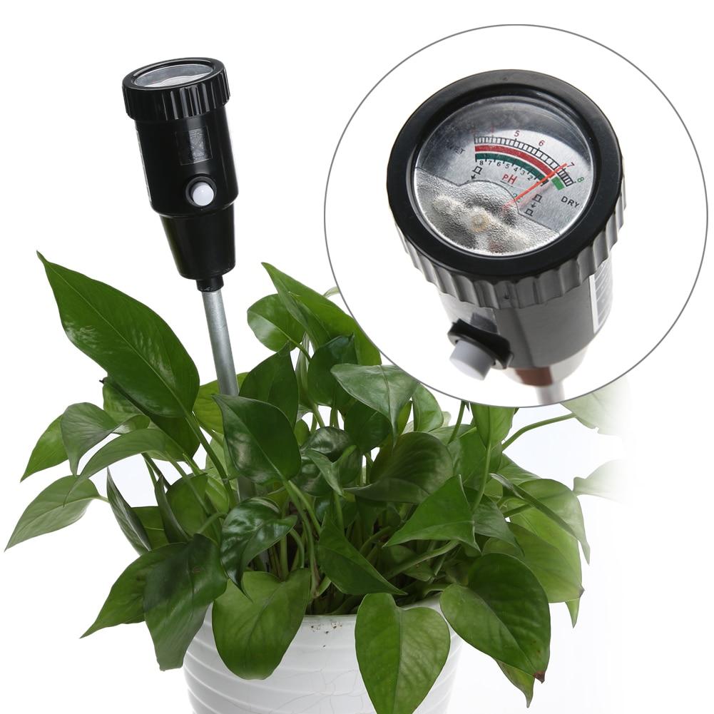 Portable Soil PH Meter 1-8% Plant PH 3-8 Level Moisture Tester For Garden Plant Flower Crop Vegetable Hydroponics Analyzer  vt 05 digital ph meter for soil with ph range 3 8ph moister range 1 8