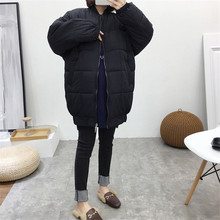 Maternity Women Winter Clothes Hoodless Long Sleeve Cottoned Coat New Mom Fashion Mid-long Thick Warm Outdoor Windbreaker Jacket