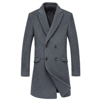 2017 Winter New Fashion Trend Youth Style Small Fresh And Pure Color Casual Wild Real Wool Cashmere Coat Suit Coat Woolen Man