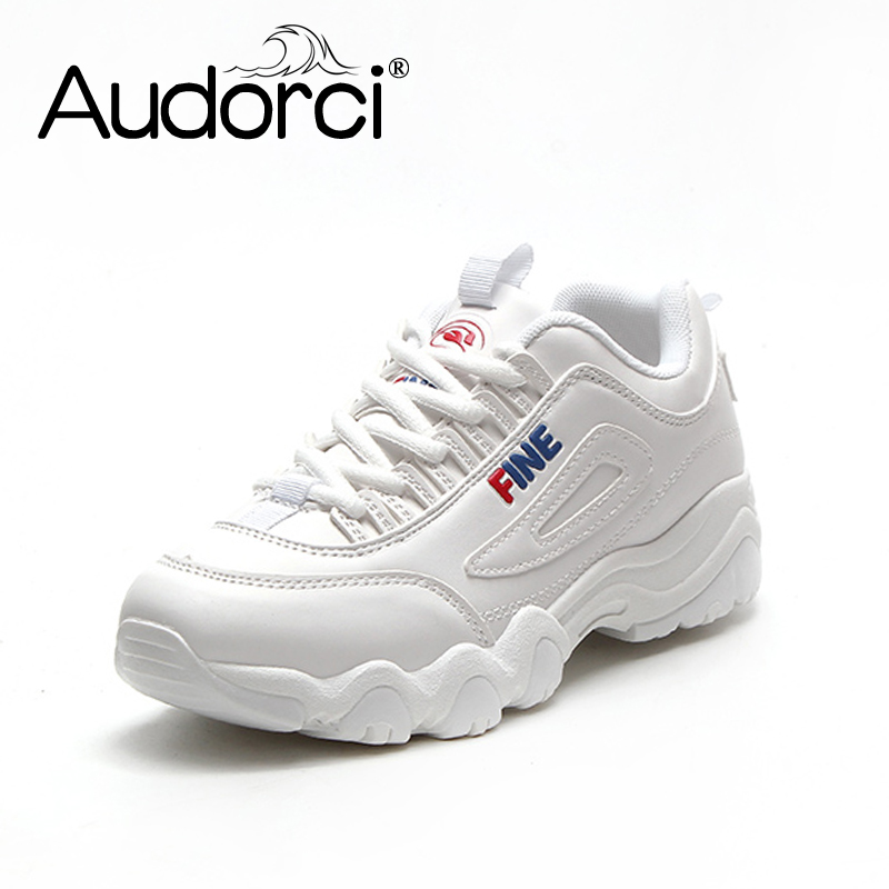 Audorci 2018 Spring Fashion Brand Casual Shoes Flats Women Platform Shoe Comfortable Breathable Woman Sneakers Size 35-40 micro micro 2017 men casual shoes comfortable spring fashion breathable white shoes swallow pattern microfiber shoe yj a081