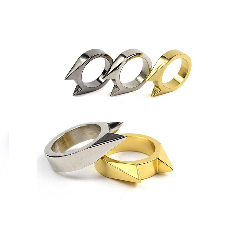 5Pcs/lot EDC Safety Survival Self Defense Ring Tool Stainless Steel Finger Weapons Broken Windows Defence Schlagring