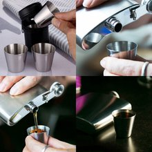 Mini Tea and Liqueur Coffee Cup Small Portable Vogart Stainless Steel Cup with Bag for Travel Hiking Walking 6pcs 30ml