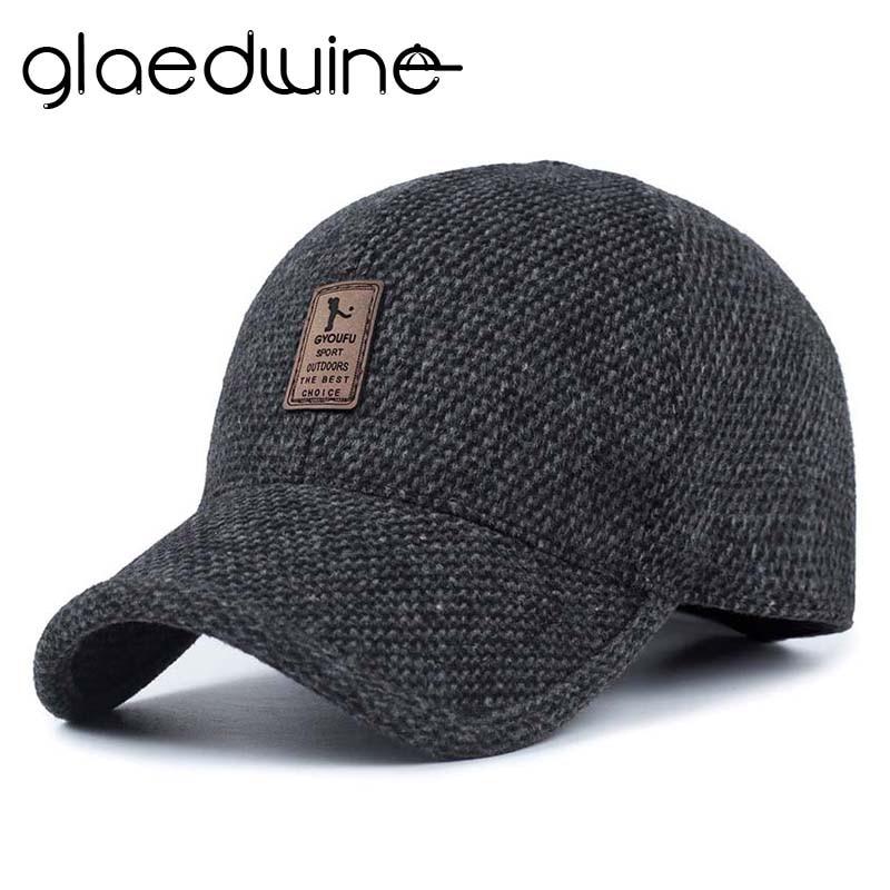 Glaedwine 2018 Cálida gorra de béisbol con orejas de invierno - Accesorios para la ropa