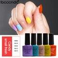 5 Fresh Candy Colors Decorations For Nails Gel Lak Nail Art Design Kits Glitter Glue UV Lamp Gel Nail Polish Manicure Gelpolish