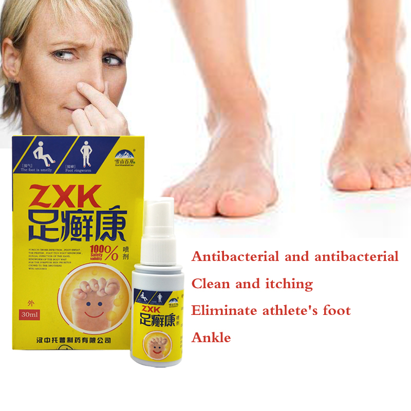 Spray Antibacterial Deodorant Powder Anti Itch Sweat Odor Feet Athletes Foot Liquid Anti-fungi Shoe Sock Feet Care