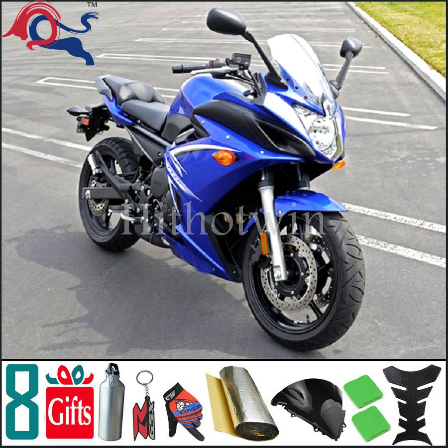 For yamaha FZ6R 2009 2010 2011 2012 blue Fairing Bodywork Kit Set ...