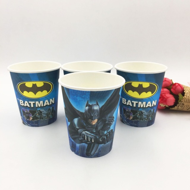 10pcs/lot Batman Party Supplies Paper Cup Cartoon Birthday Decoration Baby Shower Theme Boys & 10pcs/lot Batman Party Supplies Paper Cup Cartoon Birthday ...