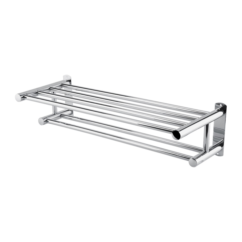 Stainless Steel Modern Towel Rack Double Wall Mounted