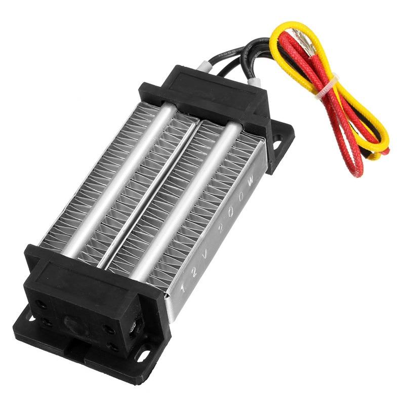 High Quality Insulated PTC Ceramic Air Heater Constant Temperature Heating Element 200W AC/DC 12V Incubator