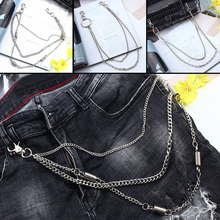 2-3 Layer Rock Punk Hook Trousers Pant Waist Link Belt Chain Bags Hip Hop Accessories Metal Wallet Cross Street HOT