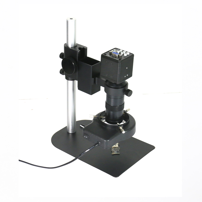 Free shipping 2 in 1 USB VGA outputs CCD CMOS Industrial microscope video Camera +130X C-Mount lens for bga IC phone pcb 400x coaxial light optics microscope zoom c mount lens ccd cmos industrial camera big stand holder for phone touch lcd ito pcb