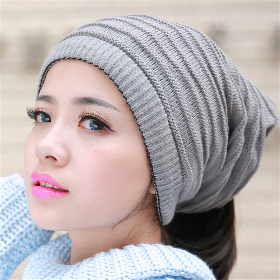 Women Hats Warm Winter Knitting Skating Skull Cap Hat Beanies Turtleneck Caps Striped Cap Snowboard hat A-104 unisex men women skiing hats warm winter knitting skating skull cap hat beanies turtleneck caps ski cap snowboard hats