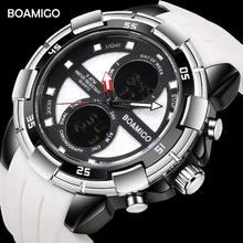 Мужские спортивные электронные часы с хронографом водостойкие