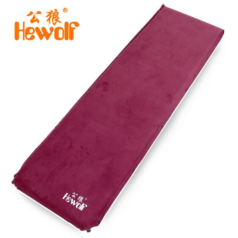 6CM Hewolf inflatable mattress Outdoor tent camping mat mattress Self-inflating travel mat Tourist mats yoga sleeping pad Suede