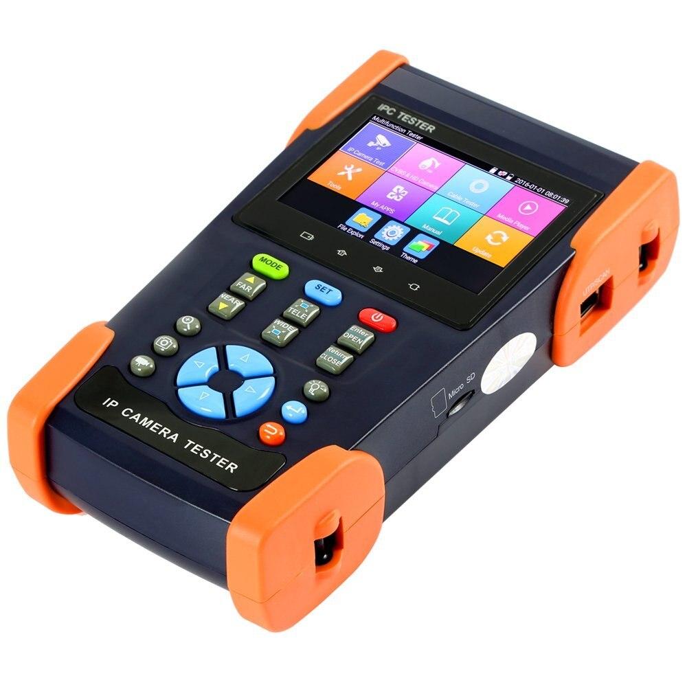 3.5 Polegada H.265 4 K IP Monitor de Testador CCTV Câmera Analógica Testador Rápida ONVIF WI-FI POE TDR Para RJ45 12 V de Saída