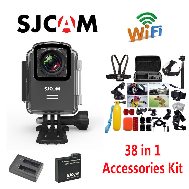 Free Shipping Original SJCAM M20 Wifi Waterproof Sports Action font b Camera b font Extra 1pcs