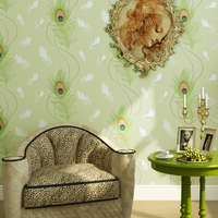 Modern Wallpapers Home Decor Feather Wallpaper Non Woven Wallpaper 3D Paper Contact Living Room TV Background