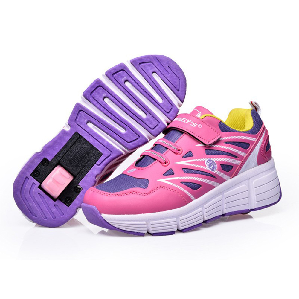 Roller shoes cheap - 2016 New Summer Breathable Kids Shoes Adults Roller Shoes Boys Girls Sneakers With Wheels Ultralight Skating