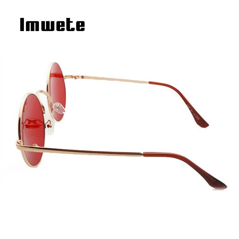 a931ba485 Imwete Rodada Do Vintage óculos de Sol Das Mulheres Dos Homens de Moda De  Metal Grandes óculos de Sol Vermelho para Das Mulheres Dos Homens óculos de  sol ...