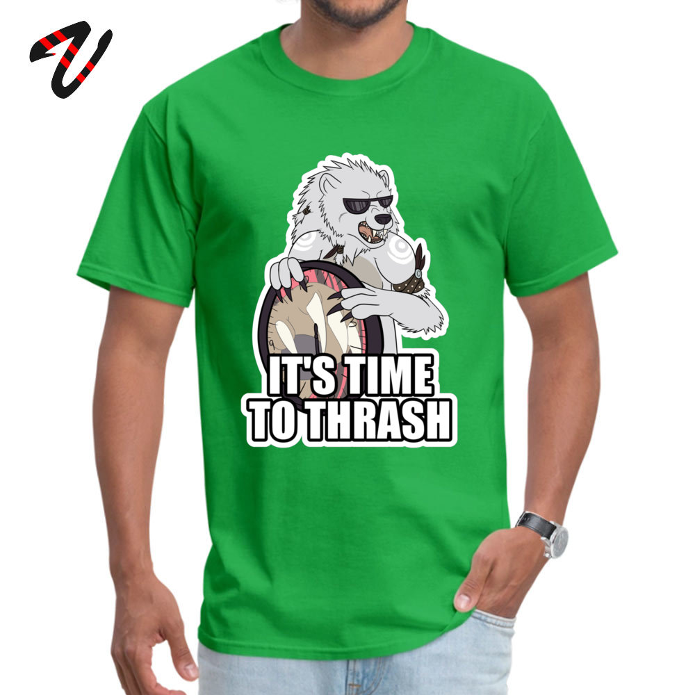 Gift Casual Printing Short Sleeve Summer T Shirt Hip Hop O Neck Cotton Tee Shirt Young T Shirt Drop Shipping ITS TIME TO THRASH White [Redbubble exclusi green